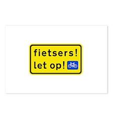 fietsers Postcards (Package of 8)