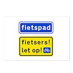 fietspadFietsers Postcards (Package of 8)