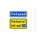 fietspadFietsers Postcards (Package of 8)