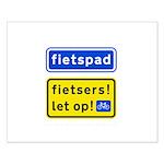 fietspadFietsers Small Poster