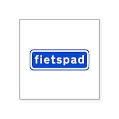 fietspad Square Sticker 3