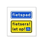 fietspadFietsers Square Sticker 3