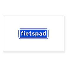 fietspad Sticker (Rectangle 10 pk)
