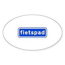 fietspad Sticker (Oval 50 pk)