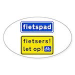 fietspadFietsers Sticker (Oval 50 pk)