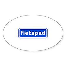 fietspad Sticker (Oval 10 pk)