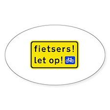 fietsers Sticker (Oval)