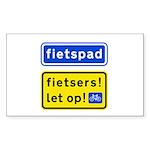 fietspadFietsers Sticker (Rectangle)