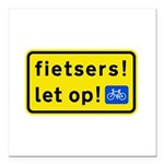 fietsers Square Car Magnet 3