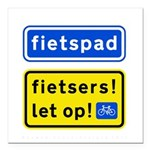 fietspadFietsers Square Car Magnet 3