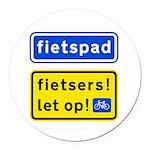fietspadFietsers Round Car Magnet