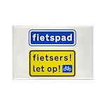fietspadFietsers Rectangle Magnet (10 pack)