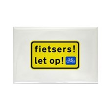fietsers Rectangle Magnet