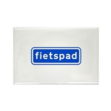 fietspad Rectangle Magnet