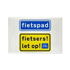 fietspadFietsers Rectangle Magnet