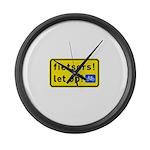 fietsers Large Wall Clock