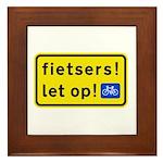 fietspadFietsers Framed Tile