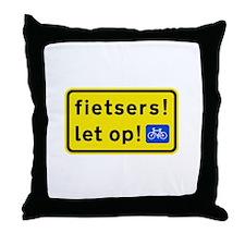 fietspadFietsers Throw Pillow