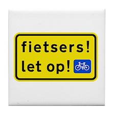 fietspadFietsers Tile Coaster