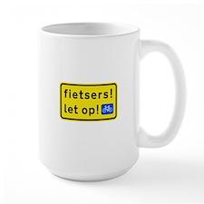 fietspadFietsers Large Mug