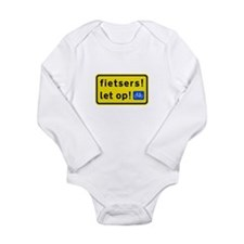 fietsers Long Sleeve Infant Bodysuit