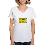 fietsers Women's V-Neck T-Shirt
