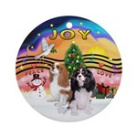 XmasMusic2-TwoCavaliers Ornament (Round)