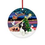 XmasMagic-Tri Color Cavalier Ornament (Round)