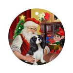 Santas Tri Cavalier Ornament (Round)