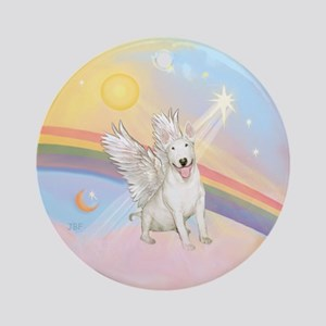 Clouds/Bull Terrier Angel Ornament (Round)