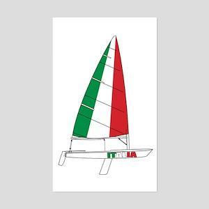Italy Italia Sailing Sticker (Rectangle)