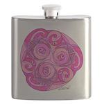 Celtic Pink Trispiral Flask