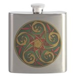Celtic Pentacle Spiral Flask