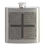 Celtic Square Cross Flask