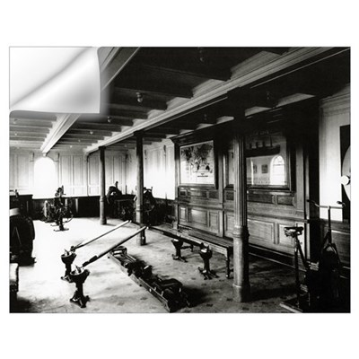 The onboard gym on the Titanic showing the rowing Wall Decal