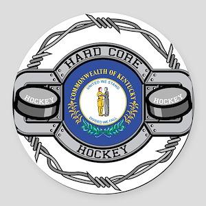 Kentucky Hockey Round Car Magnet