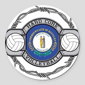 Kentucky Volleyball Round Car Magnet