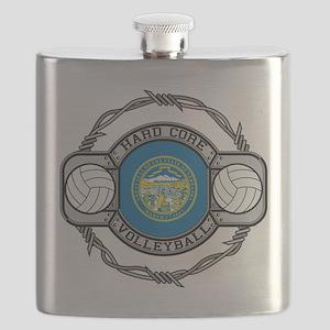 Nebraska Volleyball Flask