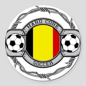 Belgium Soccer Round Car Magnet