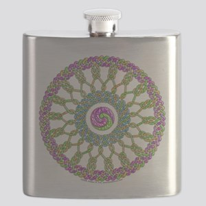 Celtic Springtime Mandala Flask