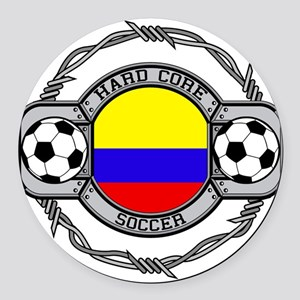 Colombia Soccer Round Car Magnet