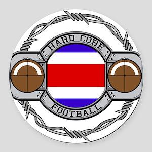 Costa Rica Football Round Car Magnet