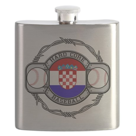 Croatia Baseball Flask