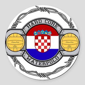 Croatia Water Polo Round Car Magnet