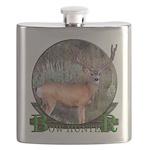 bow hunter, trophy buck. Flask