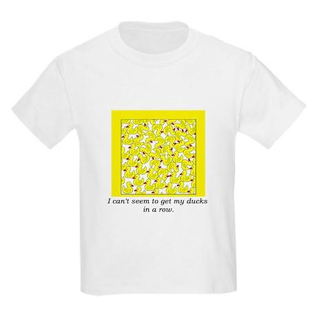 ducks in a row.png Kids Light T-Shirt
