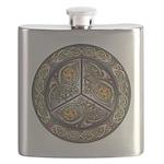 Bejeweled Celtic Shield Flask