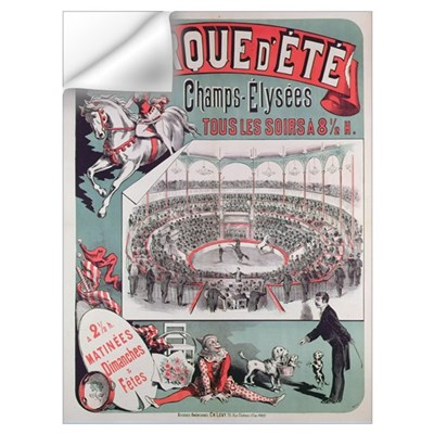 Poster advertising the 'Cirque d'Ete', c.1880 (col Wall Decal