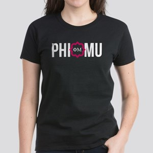 Phi Mu Letters Women's Dark T-Shirt