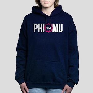 Phi Mu Letters Women's Hooded Sweatshirt